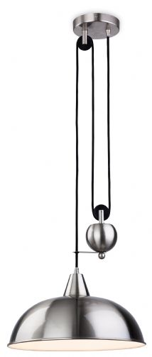 Firstlight 2309BS Brushed Steel Century Rise & Fall Pendant